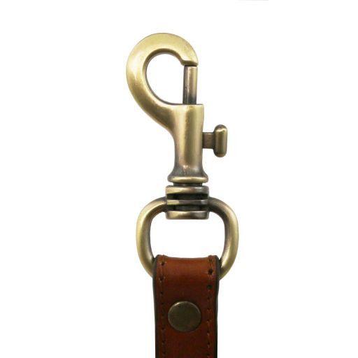 Adjustable briefcases leather shoulder strap Black TL141610