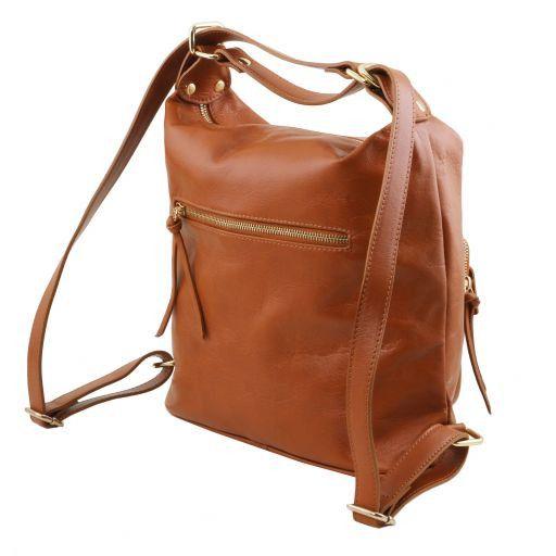 TL Bag Женская кожаная сумка-рюкзак 2 в 1 Черный TL141535