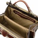 Monalisa Doctor gladstone leather bag with front straps Brown TL10034