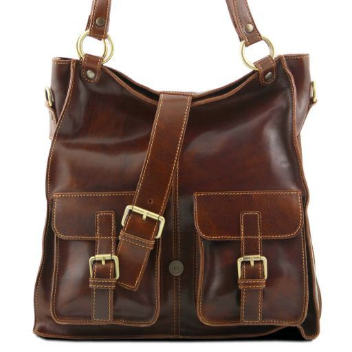 Melissa Lady leather bag Brown TL140928