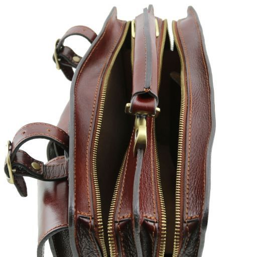 Tania Женская кожаная сумка - Большая модель Коричневый TL141269