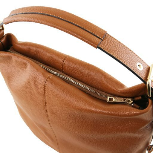 TL Bag Borsa hobo in pelle morbida Cognac TL141719