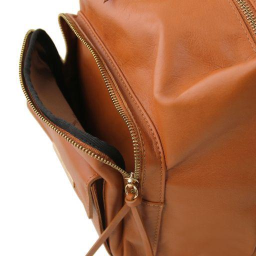 TL Bag Borsa donna in pelle convertibile a zaino Rosso TL141535