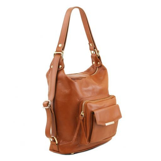 TL Bag Borsa donna in pelle convertibile a zaino Bordeaux TL141535