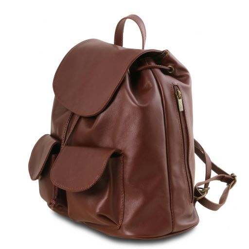 Seoul Leather backpack Large size Black TL141507