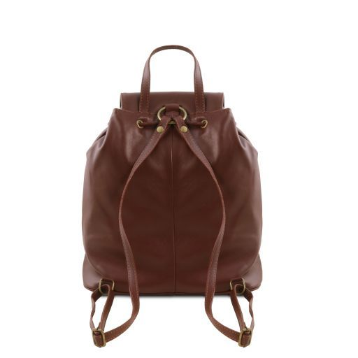 Seoul Leather backpack Small size Black TL141508