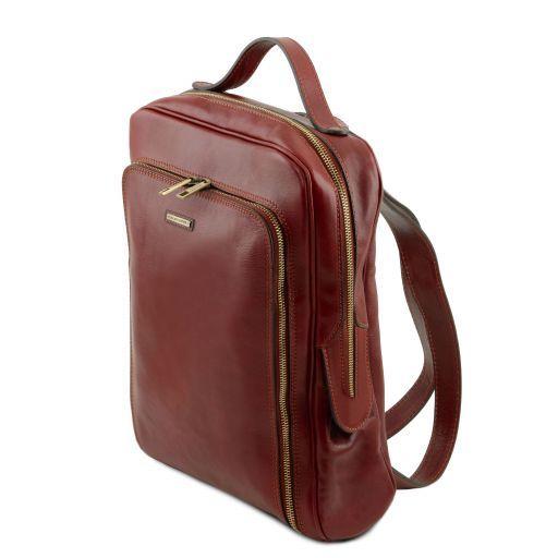 Bangkok Zaino porta notebook in pelle Miele TL141793
