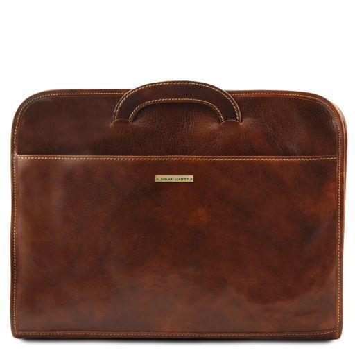 Sorrento Dokumenten - Tasche aus Leder Schwarz TL141022