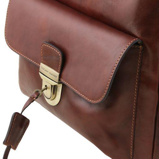 Kyoto Zaino porta notebook in pelle Testa di Moro TL141859