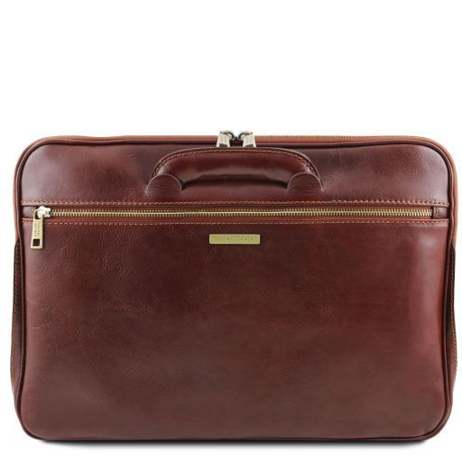 Caserta Document Leather briefcase Brown TL141324