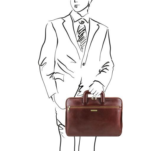 Caserta Serviette Porte-documents en cuir Marron TL141324