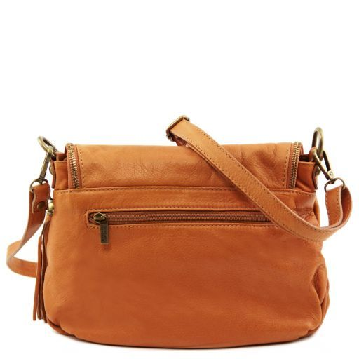 TL Bag Soft leather shoulder bag with tassel detail Dark Blue TL141223