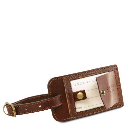 TL Voyager Borsa da viaggio in pelle con tasca sul retro - Misura piccola Miele TL141250