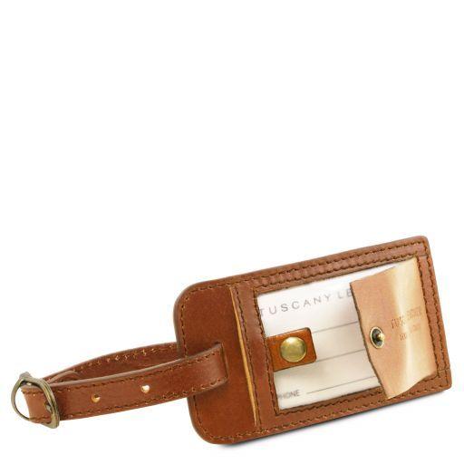 TL Voyager Borsa da viaggio in pelle con tasca frontale Marrone TL141401