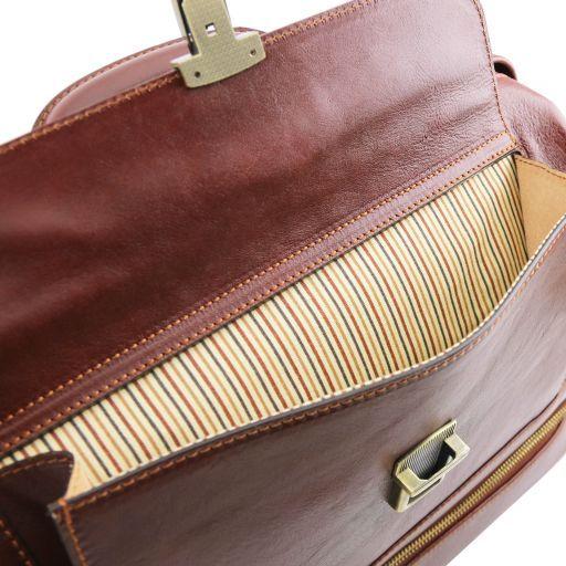 """Giotto Эксклюзивная кожаная """"докторская"""" сумка с двойным дном Мед TL141297"""