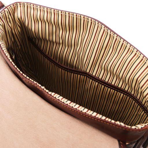 TL Messenger Sac bandoulière en cuir 1 compartiment Marron TL141260