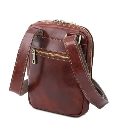 Mark Leather Crossbody Bag Brown TL141914