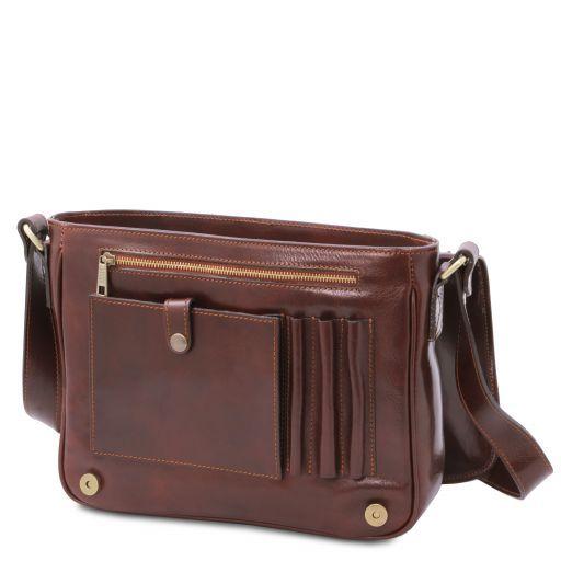 TL Messenger Кожаная сумка на плечо с 1 отделением - Средний размер Мед TL141301