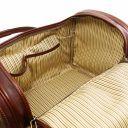 TL Voyager Sac de voyage en cuir avec poches aux côtés - Petit modèle Miel TL141441