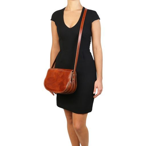 Isabella Lady leather bag Brown TL9031