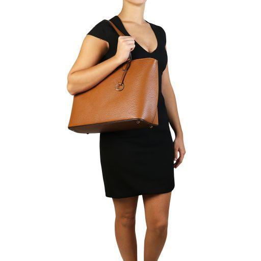 TL Bag Borsa shopping in pelle Rosso TL141828