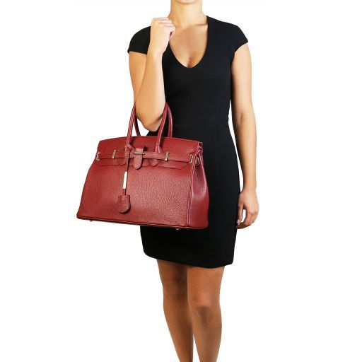 TL Bag Borsa a mano con accessori oro Bordeaux TL141529