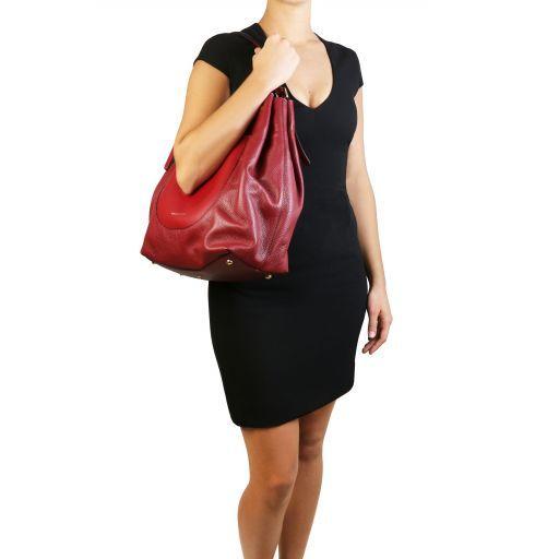 Cinzia Borsa shopping in pelle morbida Nero TL141515