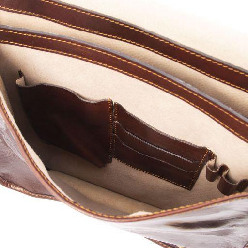 TL Postman Bolso cartero en piel Marrón TL141288