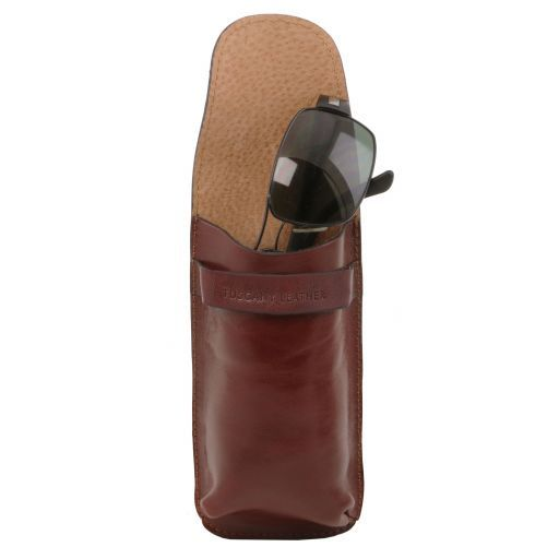 Exklusives Brillenetui aus Leder/Smartphone Etui aus Leder Gross Honig TL141321
