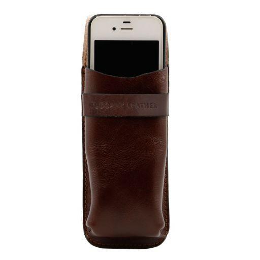 Esclusivo portaocchiali/Portacellulare/porta orologio a tracolla in pelle Testa di Moro TL141282
