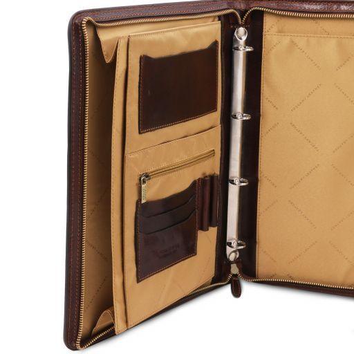 Costanzo Эксклюзивная кожаная папка для документов с кольцами и ручкой Коричневый TL141295