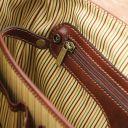 Mantova Cartable TL SMART multi compartiments en cuir avec rabat Marron TL142068
