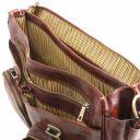 Ventimiglia Leather multi compartment TL SMART briefcase with front pockets Коричневый TL142069