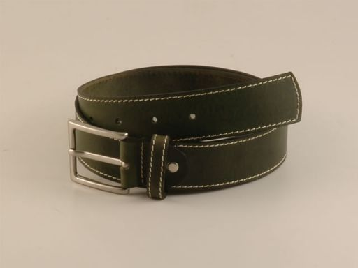 Esclusiva cintura in pelle Verde scuro TL140562