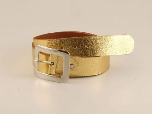 Esclusiva cintura in pelle Oro TL140584