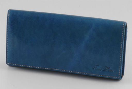 Esclusivo portafogli da donna in pelle Azzurro TL140620