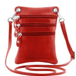 TL Bag Tracollina in pelle morbida Rosso TL141368