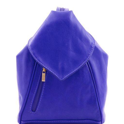 Delhi Stylischer Cityrucksack aus Leder Blau TL141623