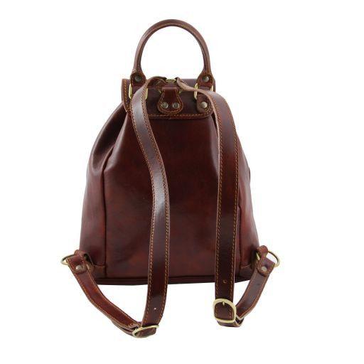 Tokyo Leather Backpack Black TL9035