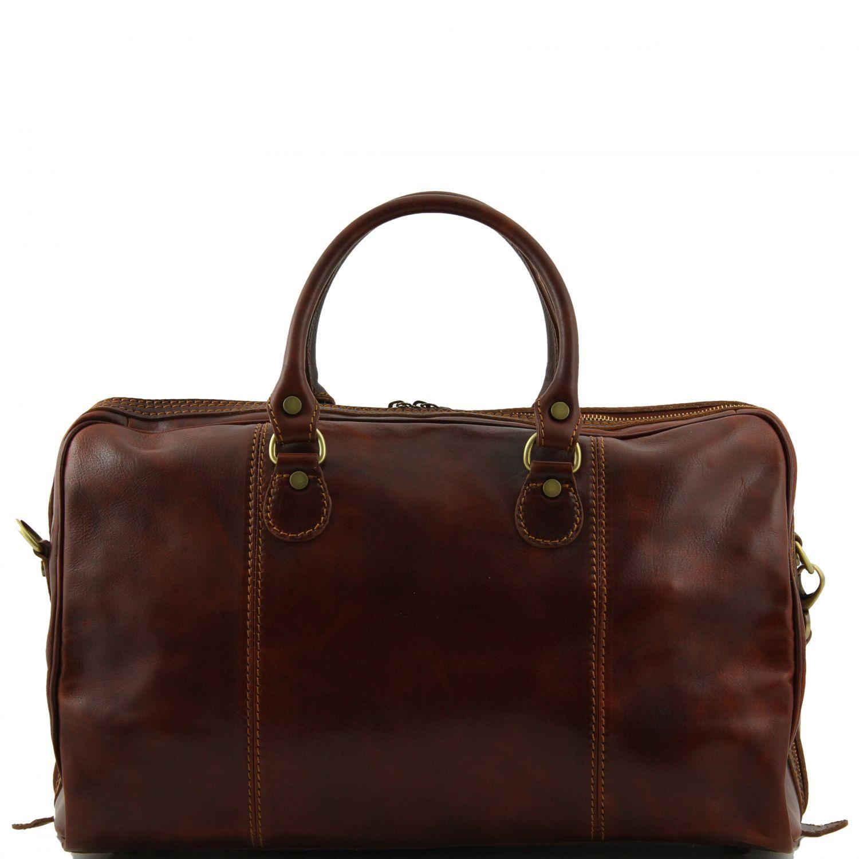 paris travel leather duffle bag dark brown tl1045. Black Bedroom Furniture Sets. Home Design Ideas