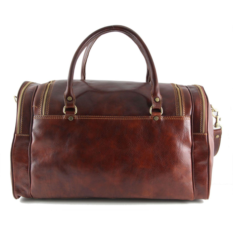 Tuscany Leather Praga Sac de voyage en cuir Marron foncé yWAu71