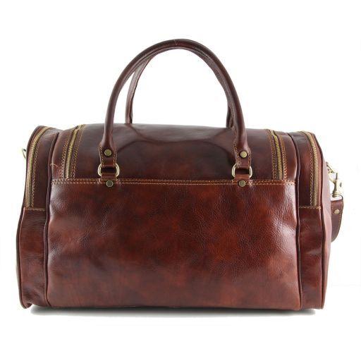 Praga Travel leather bag Dark Brown TL1048