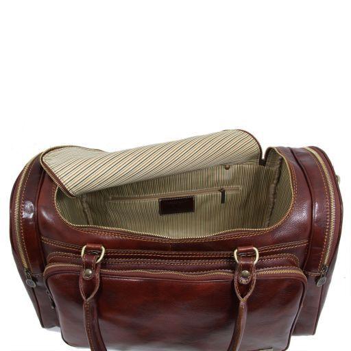 Praga Дорожная кожаная сумка Темно-коричневый TL1048