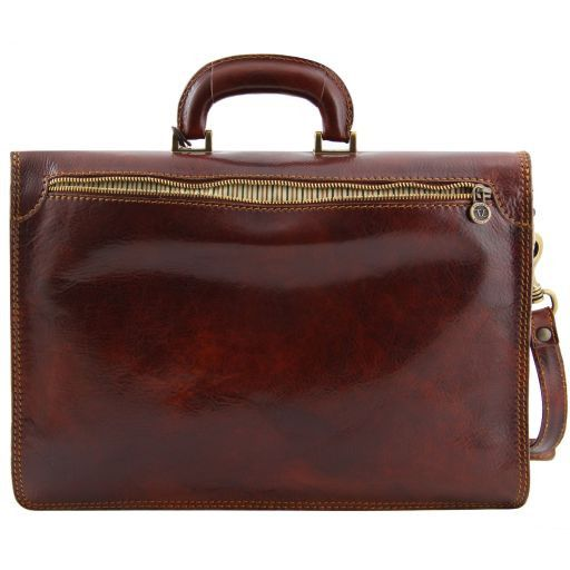 Amalfi Leather briefcase 1 compartment Black TL10050