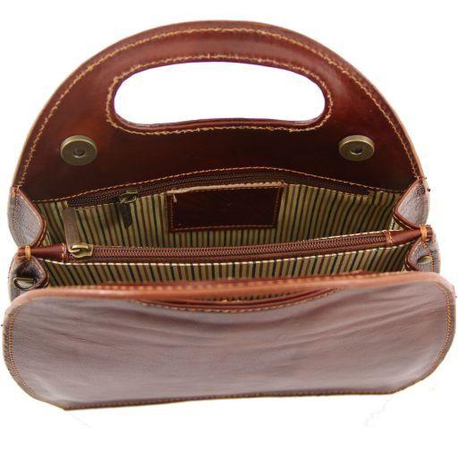 Carmen Borsa in pelle con manico ovale Miele TL6088
