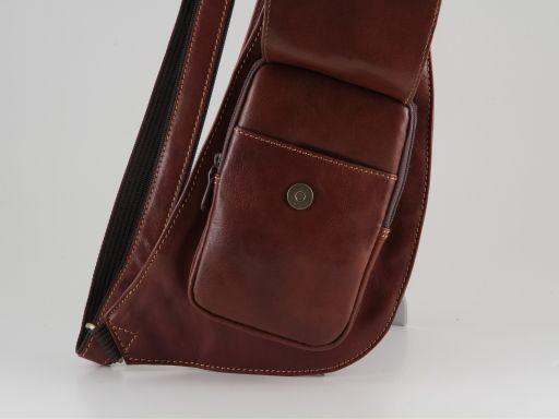 Cortina Marsupio monospalla in pelle Marrone TL90145
