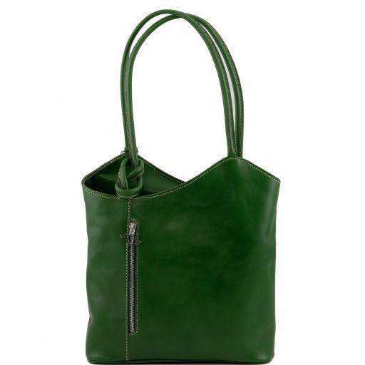 Patty Borsa donna in pelle convertibile a zaino Verde scuro TL140691