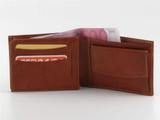 Esclusivo portafoglio in pelle uomo Arancio TL140254