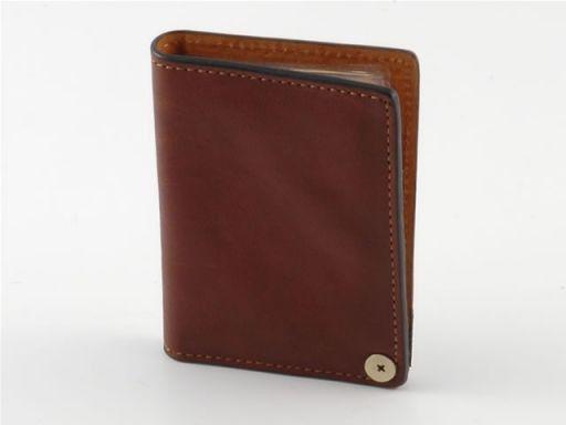 Portacarte di credito in pelle Marrone TL140298