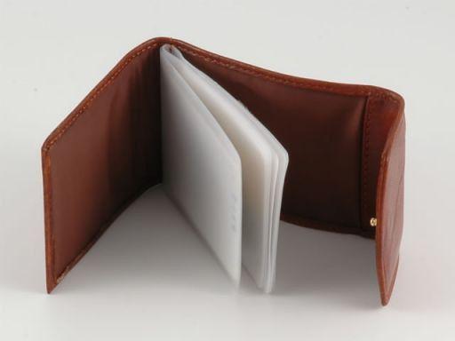 Portabiglietti da visita/carte di credito in pelle Marrone TL140325